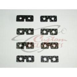 (CHP-062-2) Standard Servo Plates 2 Pack Carbon Fiber