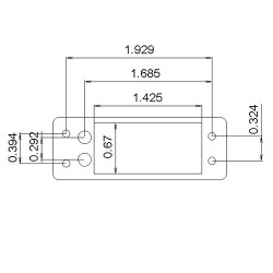 MKS HV9780 Mini Servo Adapter Plate